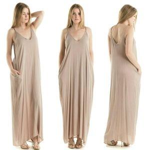 Bohemian V-Neckline Maxi Dress